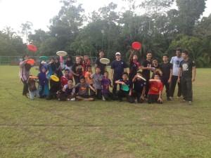 Students celebrate a successful clinic at SMK Bukit Damar